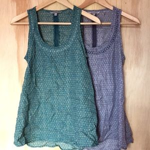 Pair of Toad&co bohemian tank tops